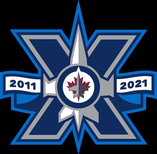 Winnipeg Jets 10th Anniversary logo