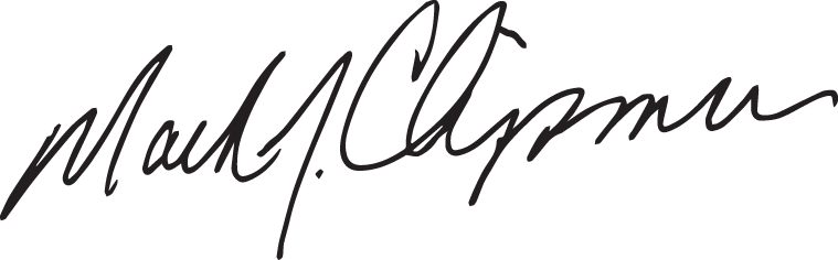 Mark Chipman's signature
